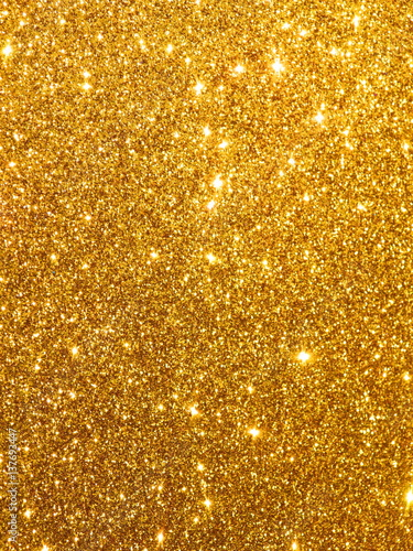 Photo  Luxury Glitter - Design Gold Glowing Sequins Background