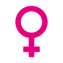 Female Symbol Isolated Icon Ve...