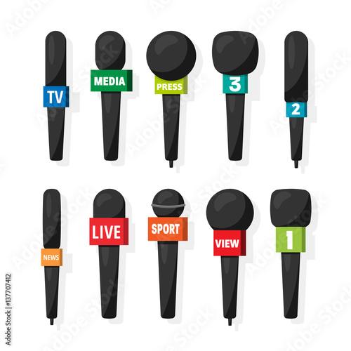 Valokuva  Microphone,reporter equipment