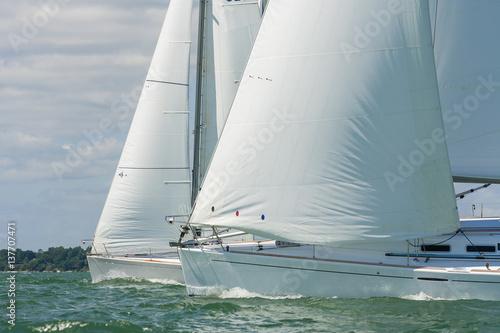 Spoed Foto op Canvas Zeilen Sailing Boat Yachts