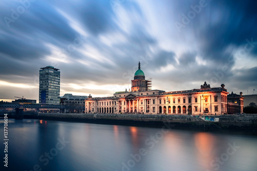 Custom House Dublin Ireland Canvas Print