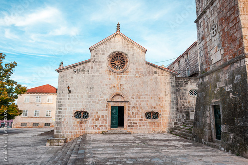 Fotografie, Obraz  Local church in village Blato on Korcula in Croatia, Mediterranean, Europe