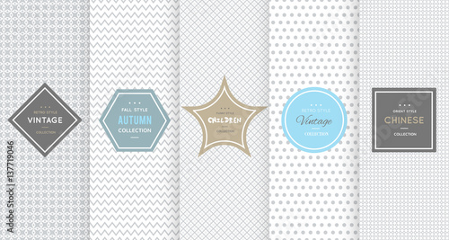 Light grey seamless patterns for universal background