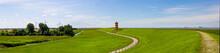Panorama Of The Lighthouse Pilsum