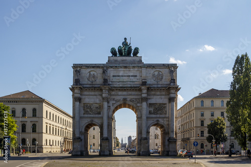 Poster Artistique Victory Gate (Siegestor) in Munich, Germany, 2015