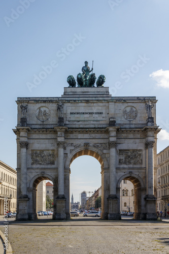 Canvas Prints Artistic monument Victory Gate (Siegestor) in Munich, Germany, 2015