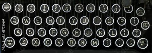 Photo  old typewriter keyboard