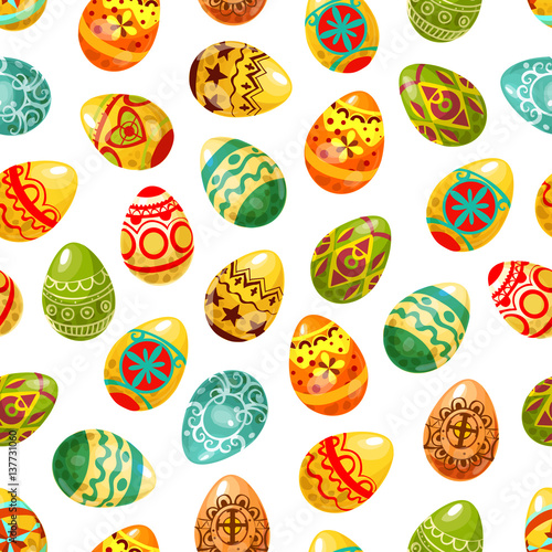 Cotton fabric Easter egg seamless pattern background