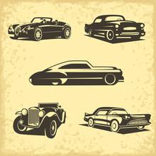 Classic Car Silhouttess