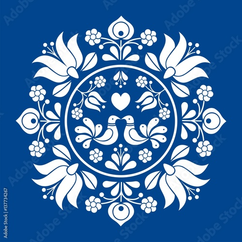 Hungarian folk vector motif