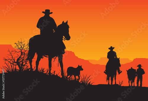 Fotografie, Obraz  American Western Cowboy