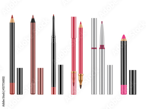 Fotomural Collection of colorful lip liners