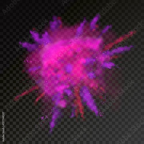Fototapeta  Pait powder color explosion on transparent background