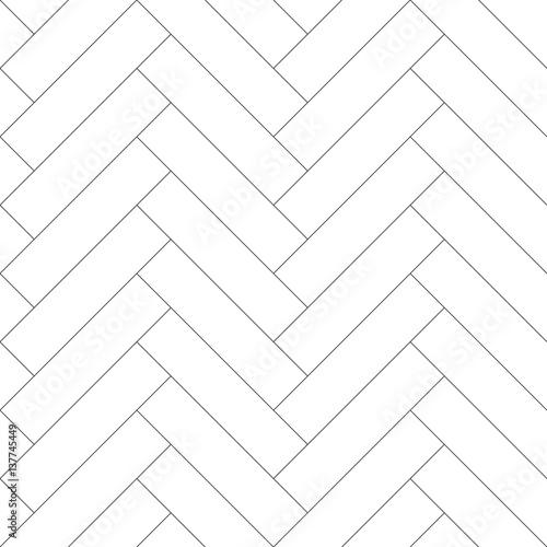 Obraz Editable Seamless Geometric Pattern Tile with Herringbone Line Art - fototapety do salonu