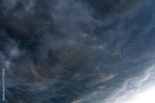 Garden Poster Heaven Dark Grey Storm Clouds