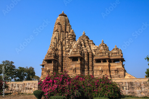 Poster Monument Temples in Khajuraho. India