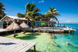 Beautiful caribbean sight with turquoise water in Caye Caulker, Belize