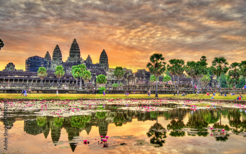 Sunrise at Angkor Wat, a UNESCO world heritage site in Cambodia Wallpaper Mural