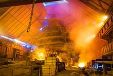 Steel Works Blast Furnace Shop, Industrial Background