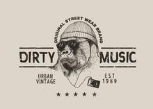 Street Label For T-shirt Desig...