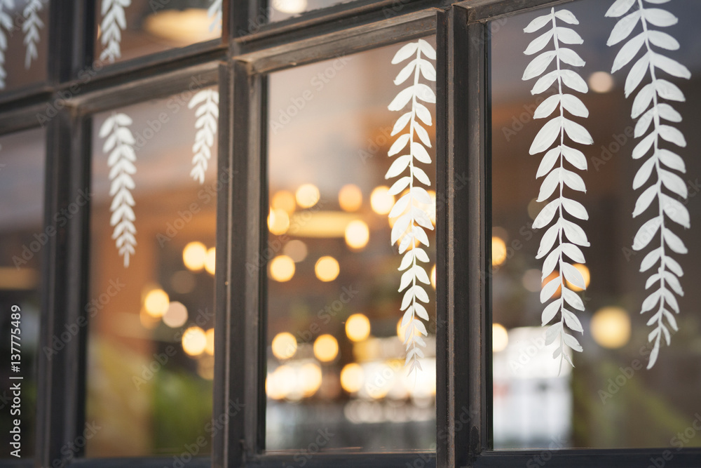 Fototapeta Window and sticker decoration