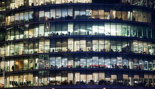 Fototapeta windows of Skyscraper Business Office, Corporate building in London City, England, UK obraz na płótnie