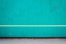 Vibrant Cyan Plaster Wall