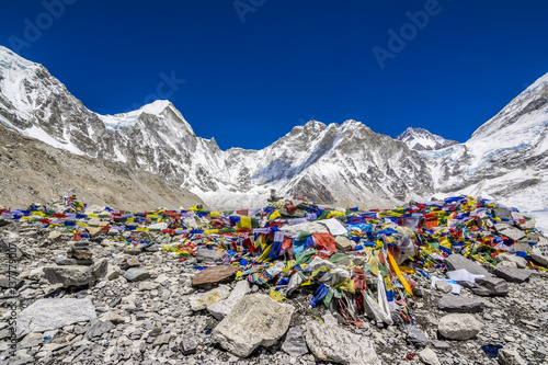 Wall Murals Nepal Base camp - last stop for everest base camp trekking, Nepal.