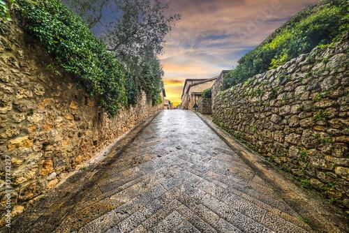Plakat Narrow backstreet in Monteriggioni