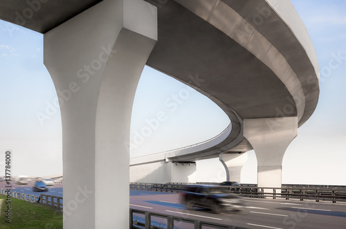 Photo Concrete overpass from below
