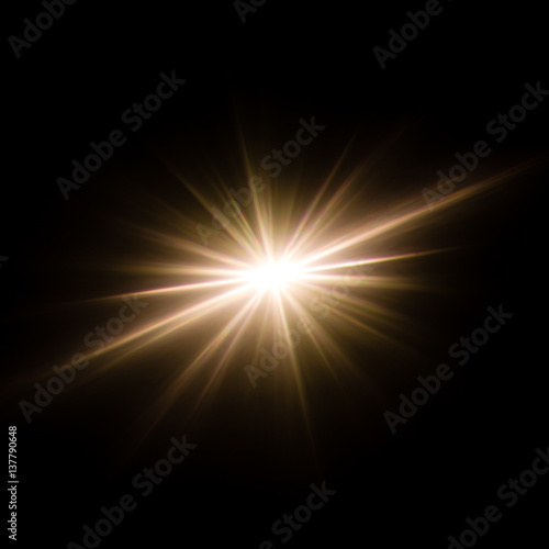 Obraz Abstract image of lighting flare and flash, like supernova star. - fototapety do salonu
