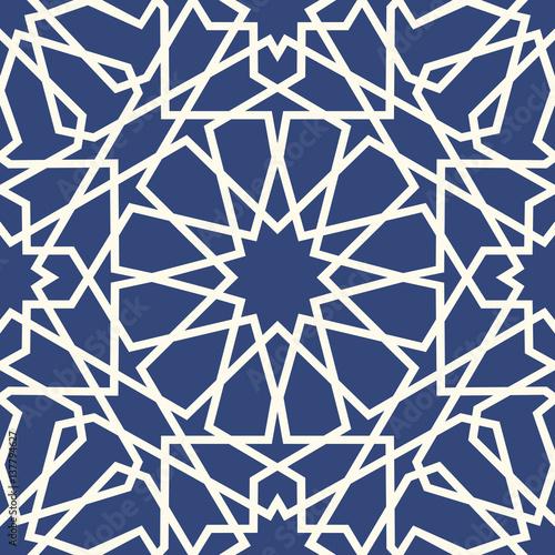 Fotografía  Geometric arabic seamless pattern