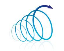 螺旋 矢印(青)