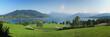 Panoramablick auf den Tegernsee und Wallberg