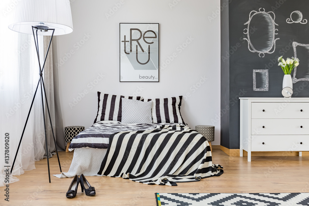 Fototapeta Stylish woman's bedroom