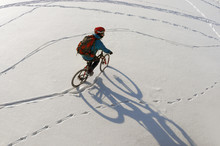 Patterns In The Snow Bike