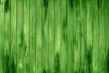 Green Wooden Slats Background