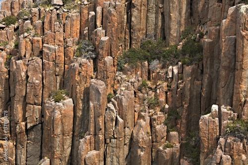 Photo  Rugged coastline cliffs