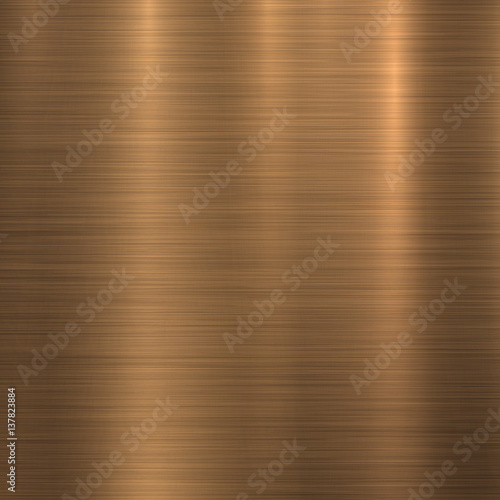 Bronze metal technology background with polished, brushed texture, chrome, silver, steel, aluminum, copper for design concepts, web, prints, posters, wallpapers, interfaces Fototapet