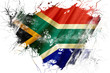 canvas print picture - Grunge old South africa  flag