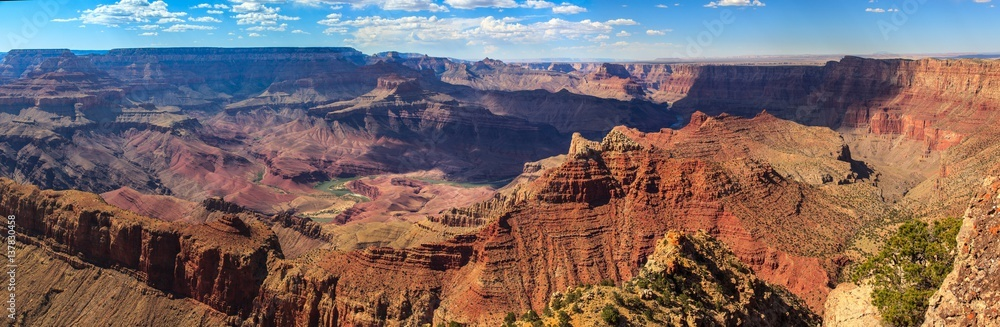 Panoramic view of the Grand Canyon, south rim. Arizona.