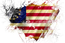 Grunge Old Betsy Ross American Early Design Flag