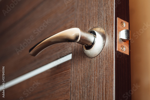 Obraz door handle, closeup view - fototapety do salonu