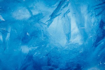 ice background, blue frozen texture