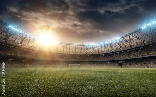 soccer stadium_4 Canvas Print