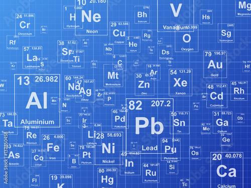Photo  Chemical Elements Blueprint