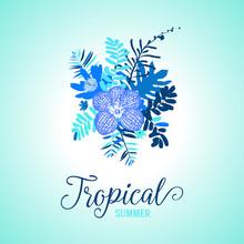 Tropical Summer Card Design