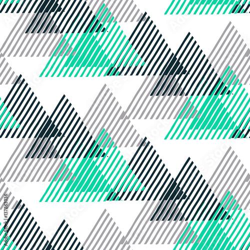 Naklejka dekoracyjna Geometryczny wzór z abstrakcyjnymi trójkątami