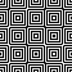 Obraz Seamless geometric black and white pattern for fabric