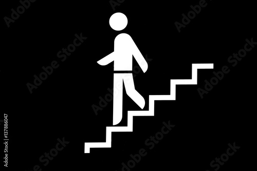 Treppe abwärts Canvas Print